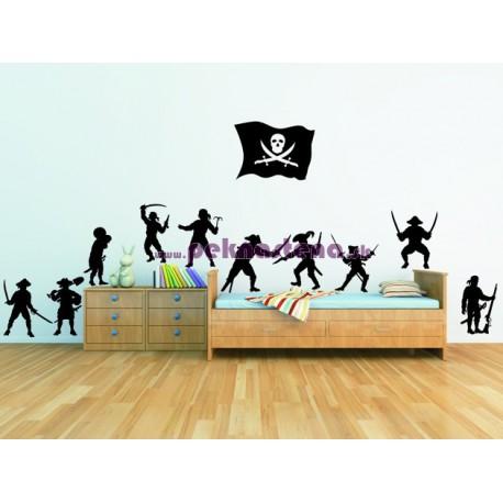 Nálepka na stenu - Piráti - 12 kusov