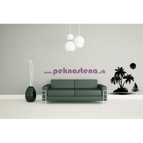 Nálepky na stenu - More a palmy