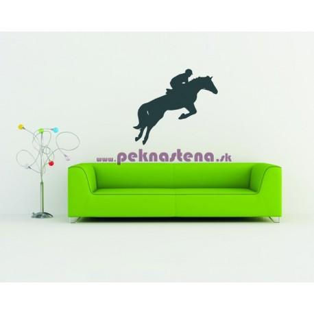 Nálepky na stenu - Jazdec na koni