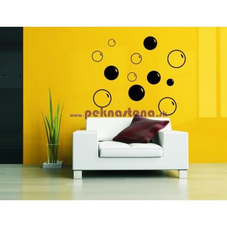 Nálepka na stenu - Bubble bubliny