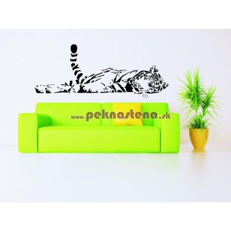 Nálepka na stenu - Spiaci tiger