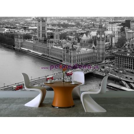 Fototapety - Čiernobiely Londýn
