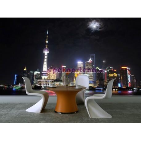 Fototapeta - Nočný Shanghai