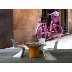 Ružový bicykel