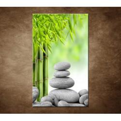 Obrazy na stenu - Kamene a bambus