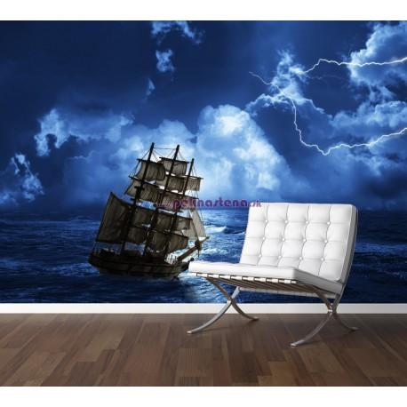 Fototapety - Búrka na mori