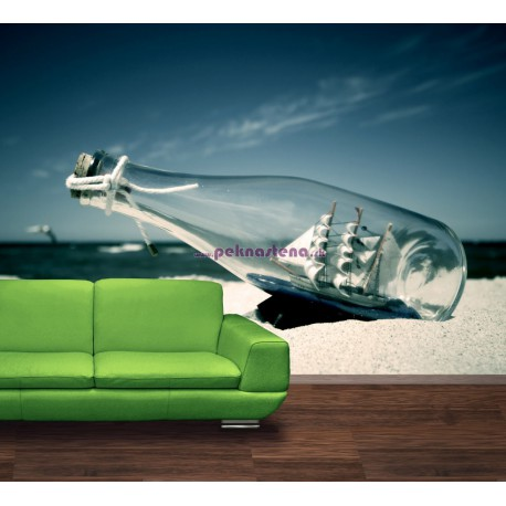 Fototapety - Loď vo fľaši