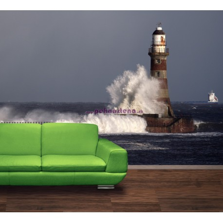 Fototapety - Maják s vlnami