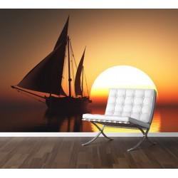 Fototapety - Západ slnka na mori