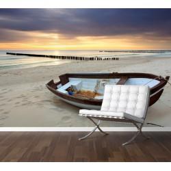 Fototapety - Loď na pláži
