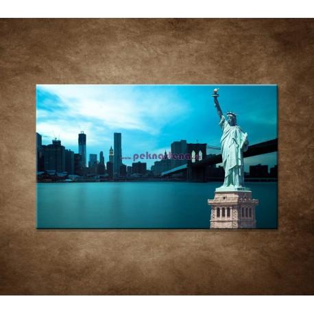Obraz na stenu - Manhattan a Socha Slobody
