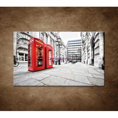Obraz na stenu - Červené telefónne búdky