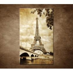 Obraz na stenu - Výhľad na Eifelovu vežu