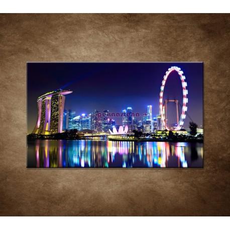 Obraz na stenu - Singapur - nočná panoráma