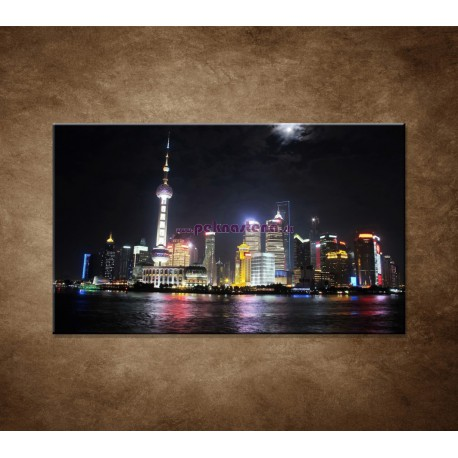 Obraz na stenu - Nočný Shanghai