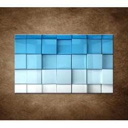 Obraz - Modré kocky