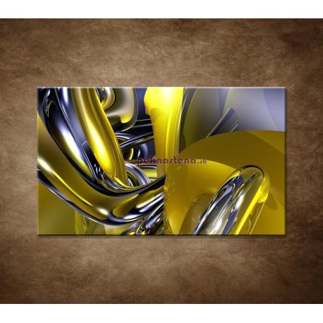 Obrazy na stenu - Žltá abstrakcia