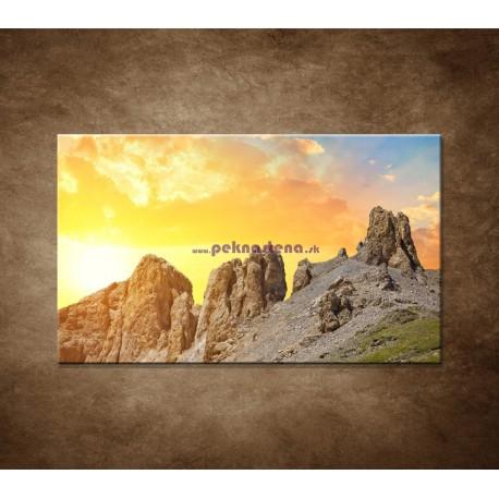 Obrazy na stenu - Hory pri západe