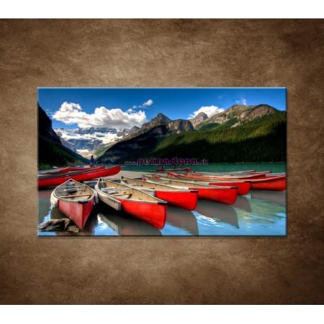 Obrazy na stenu - Kánoe na jazere
