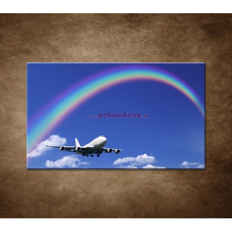 Obrazy na stenu - Lietadlo s dúhou