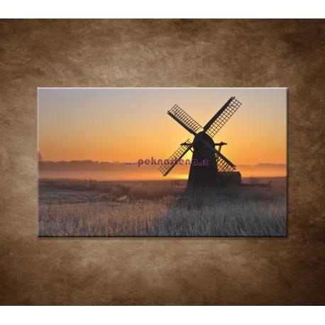 Obrazy na stenu - Mlyn v hmle