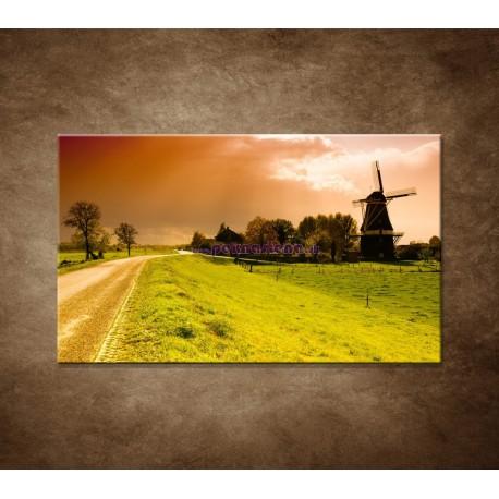 Obrazy na stenu - Západ slnka nad mlynom
