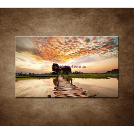 Obrazy na stenu - Západ slnka nad riekou