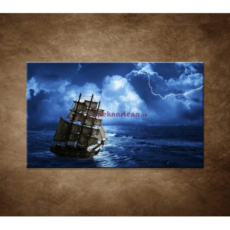 Obrazy na stenu - Búrka na mori