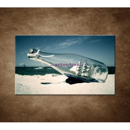 Obrazy na stenu - Loď vo fľaši