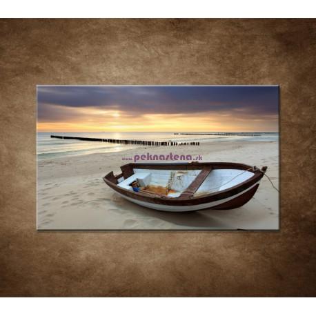 Obrazy na stenu - Loďka na pláži