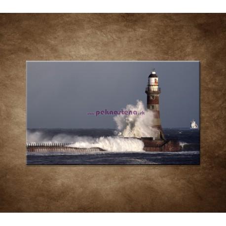 Obrazy na stenu - Maják s vlnami