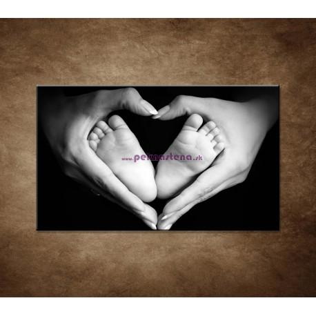 Obrazy na stenu - Detské nohy v srdci