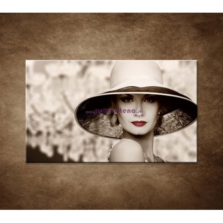 Obrazy na stenu - Žena v klobúku