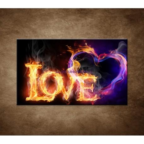 Obrazy na stenu - Horiace srdce