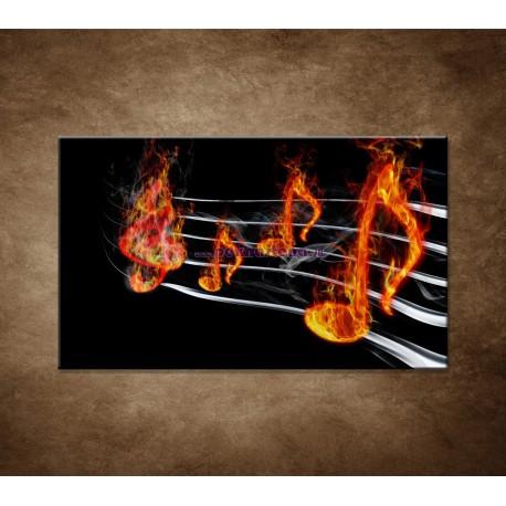 Obrazy na stenu - Noty v plameňoch