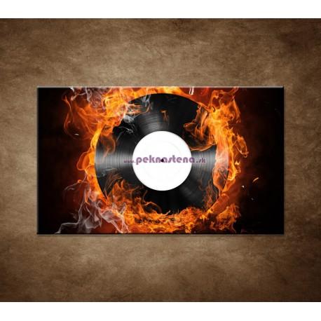 Obrazy na stenu - Platňa v plameňoch