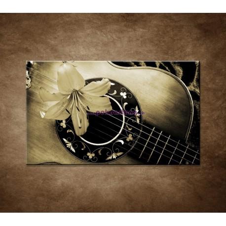 Obrazy na stenu - Gitara s kvetom