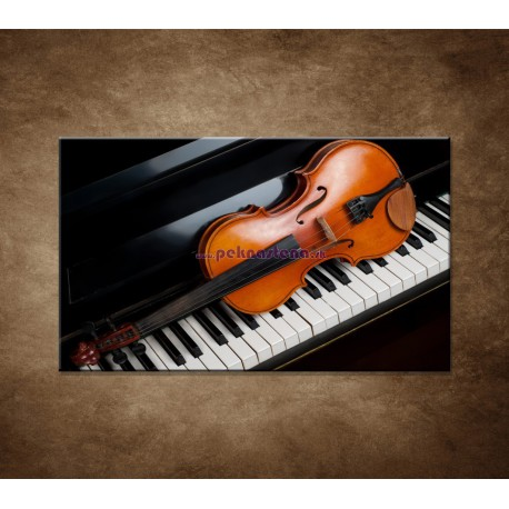 Obrazy na stenu - Husle a klavír