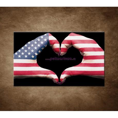 Obrazy na stenu - Amerika v srdci