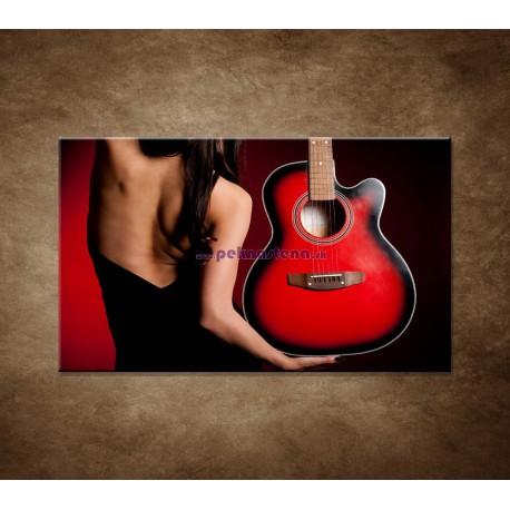 Obrazy na stenu - Žena s gitarou
