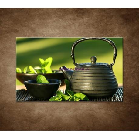 Obrazy na stenu - Kanvica s čajom