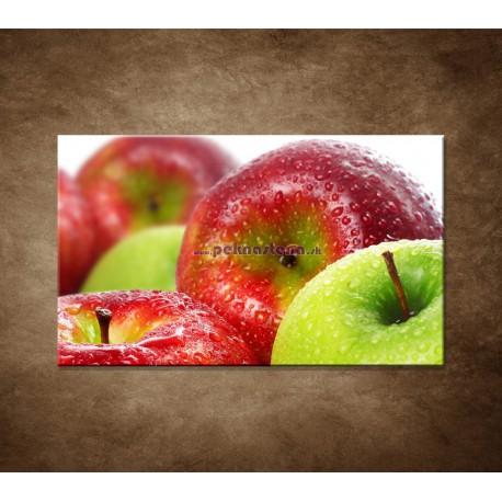 Obrazy na stenu - Červené a zelené jablká