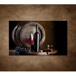 Obraz - Fľaša červeného vína
