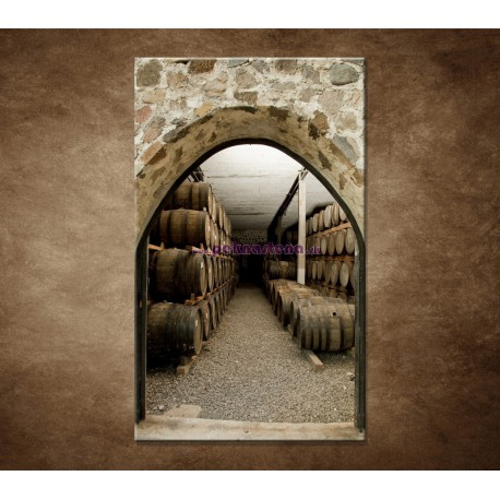 Obrazy na stenu - Sudy v pivnici