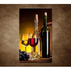 Obraz - Víno so sudom