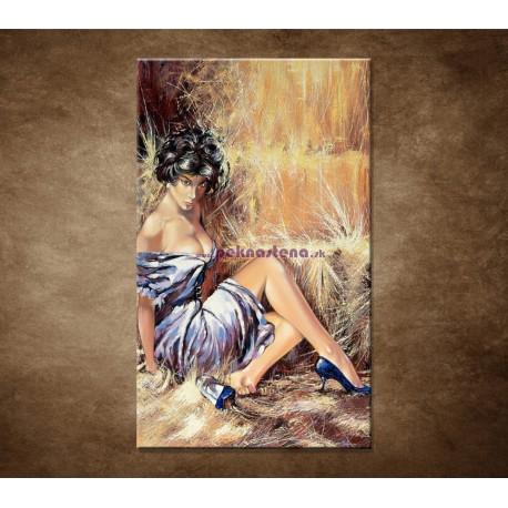 Obrazy na stenu - Maľovaná žena