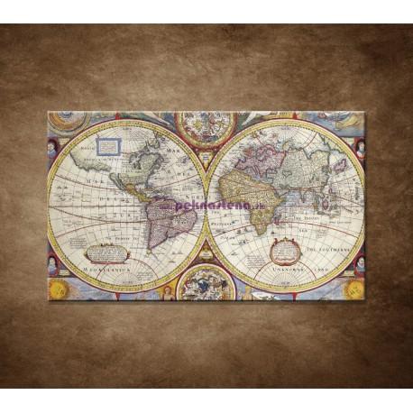 Obrazy na stenu - Stará mapa sveta