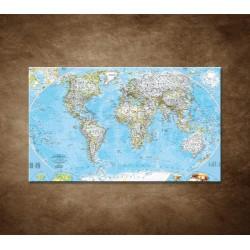 Obrazy na stenu - Politická mapa sveta