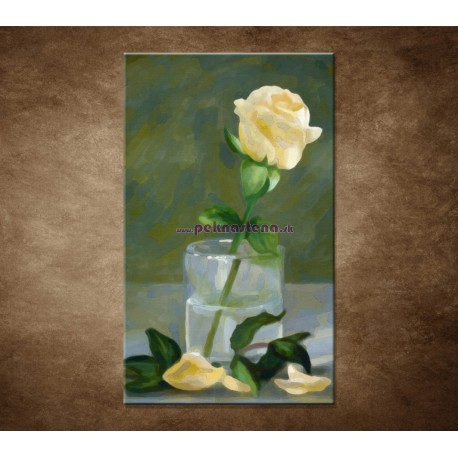 Obrazy na stenu - Maľovaná ruža