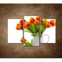 Červené tulipány - 3dielny 75x50cm